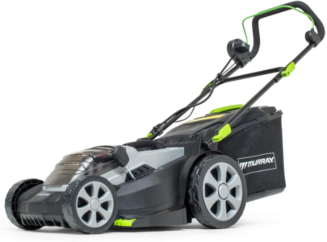 Murray 2 x 18 V 36 V Lithium-Ion 37 cm Cordless Lawn Mower IQ18WM37, Including 2 x 2.5 Ah Battery and Dual Charger
